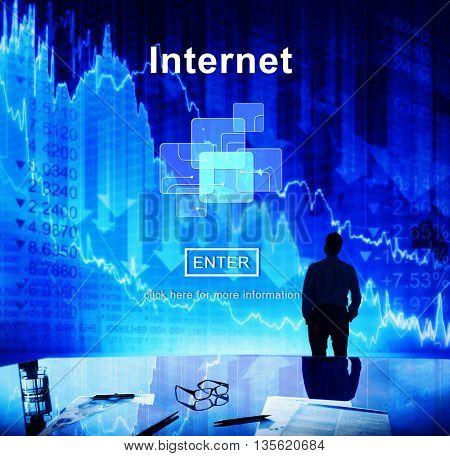 Internet Connection Business Concept