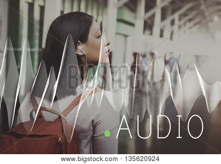 Photography Camera Female Outdoors Banner Graphic Concept