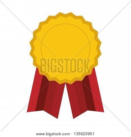 Winner  concept represented by gold seal stamp icon over flat and isolated background