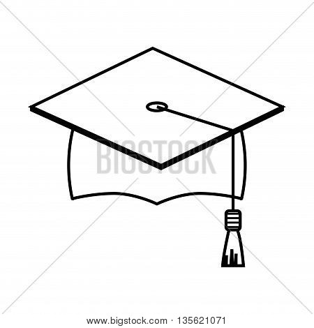 Graduation and University concept represented by diploma icon over flat and isolated background