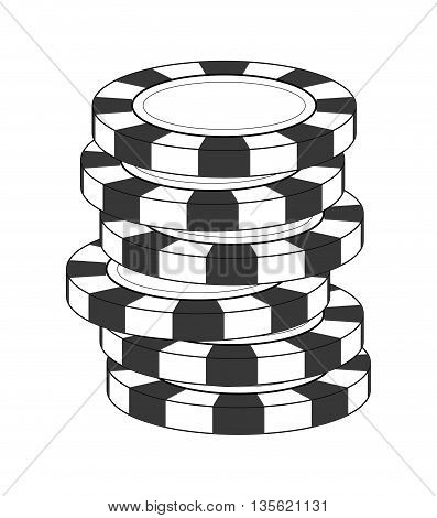 Casino and las vegas concept represented by chip icon over flat and isolated background