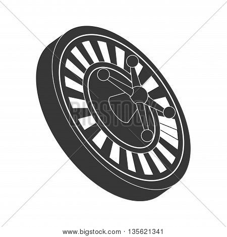 Casino and las vegas concept represented by roulette icon over flat and isolated background
