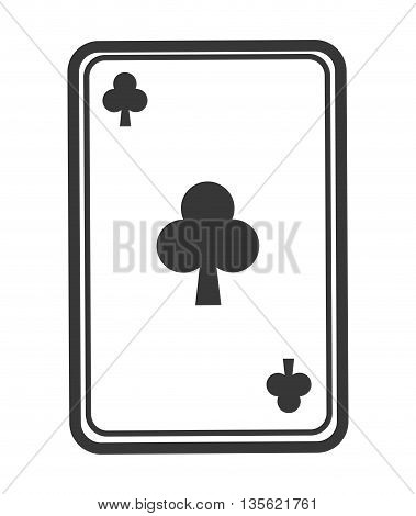 Casino and las vegas concept represented by card game icon over flat and isolated background