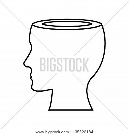 idea concept represented by human and male head  icon over flat and isolated background