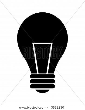 Energy or idea concept represented by light bulb icon over flat and isolated background