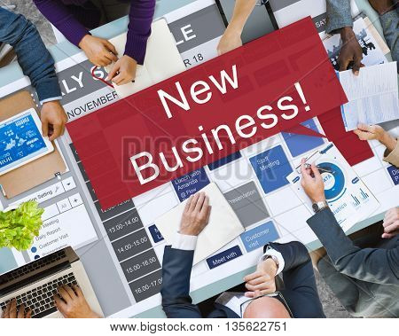 New Business Launch Innovation Startup Concept