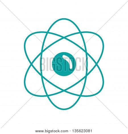 Medical cand Heatlh care concept represented by atom icon over flat and isolated background