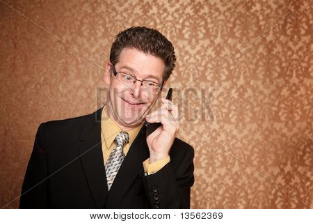 Businessman On A Telephone Call