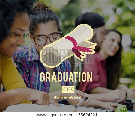 Diploma Degree Graduation Course Education Concept