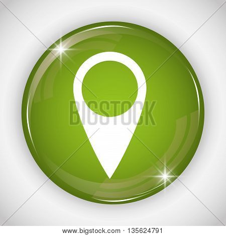 Social Media button represented by gps multimedia app . Colorfull and isolated illustration