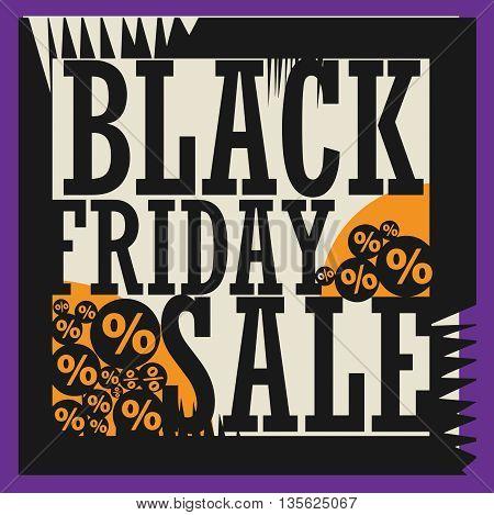 Black Friday sale sign or symbol, vector illustration