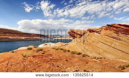 Lake Powell rock formation. Arizona, west USA