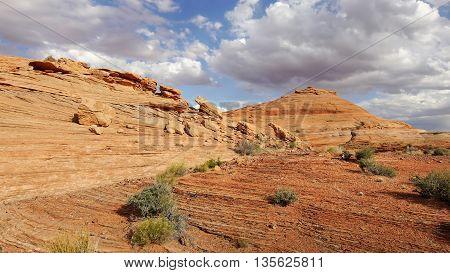 Wild Utah desert orange landscape, west USA