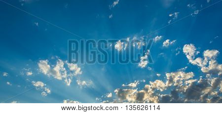 Image Of Blue Sky And White Clouds On Day Time .