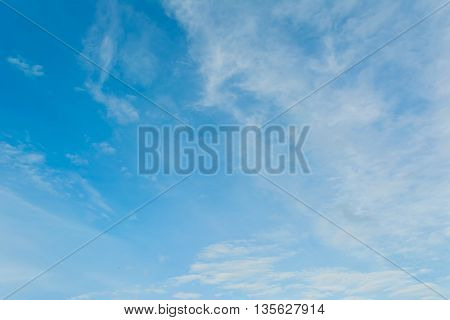 Image Of Clear Blue Sky And White Clouds On Day Time .