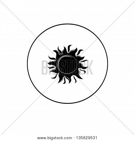 Vector icon isolated sun illustration on background