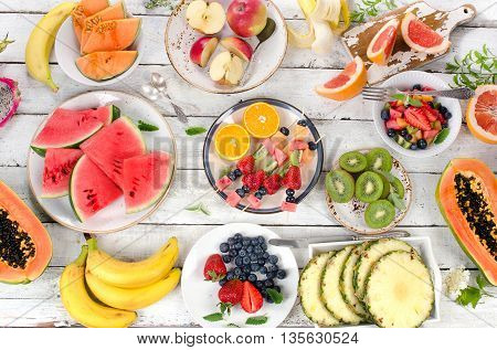 Fruits Background. Healthy Diet Food.