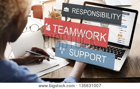 Teamwork Togetherness Unity Support Responsibility Concept