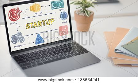 Start-Up Growth Launch Success Opportunity Concept