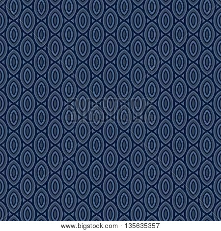 Beans pattern abstract navy blue background. Vector seamless pattern. Bean repeating pattern.