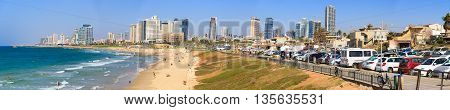 Tel-aviv/ Israel September 17, 2015: Panorama Of Quay In Tel Aviv