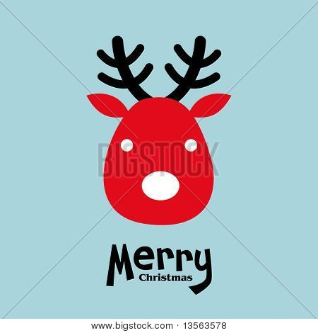 vector elk of christmas card