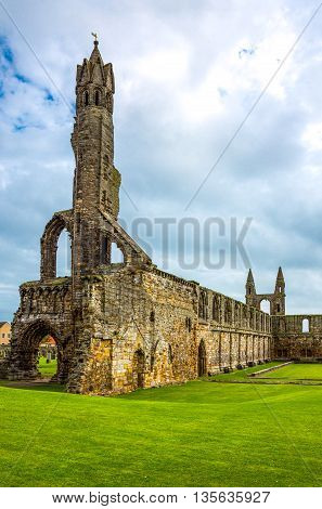 Great Britain Scotland Fife area St Andrews the Cathedral's ruins