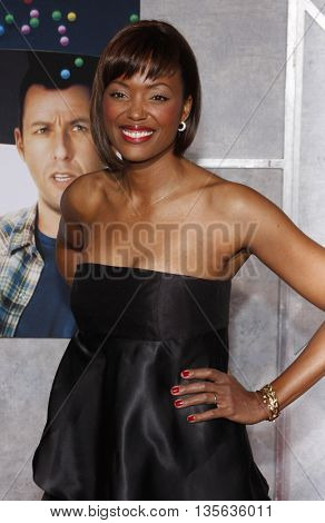 Aisha Tyler at the Los Angeles premiere of 'Bedtime Stories' held at the El Capitan Theater in Hollywood, USA on December 18, 2008.