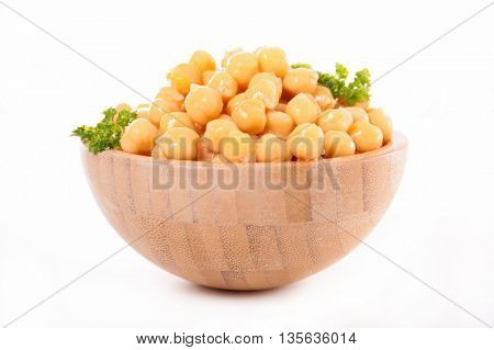 bowl with chickpea