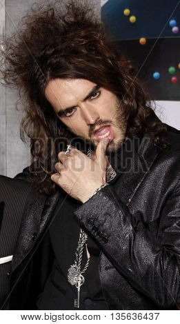 Russell Brand at the Los Angeles premiere of 'Bedtime Stories' held at the El Capitan Theater in Hollywood, USA on December 18, 2008.