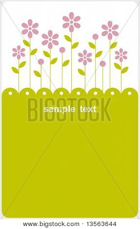 vector floral card design