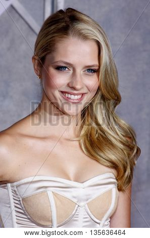 Teresa Palmer at the Los Angeles premiere of 'Bedtime Stories' held at the El Capitan Theater in Hollywood, USA on December 18, 2008.