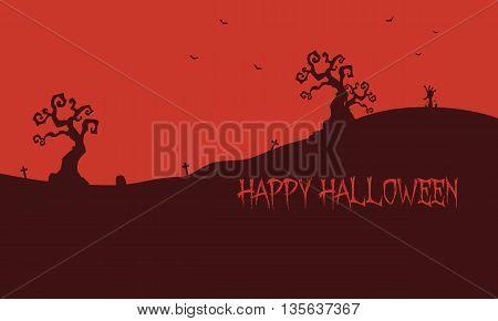 Happy Halloween red backgrounds vector art illustration