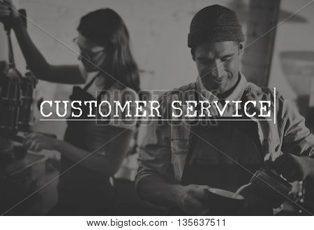 Customer Satisfaction Service Feedback Assistance Concept