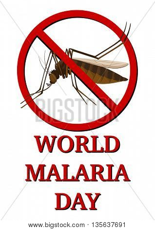 Sign for world malaria day illustration