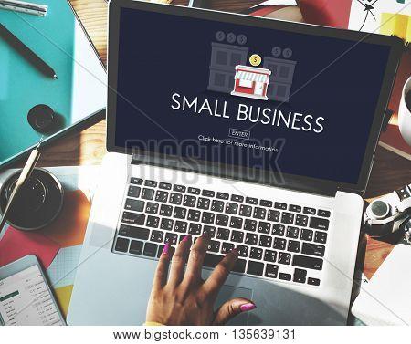 Small Business Entrepreneur Investment Marketing Management Concept
