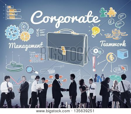 Corporate Business Professional Organization Concept
