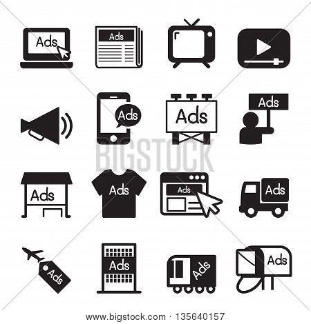 Advertising , marketing icon set Vector illustration Graphic design
