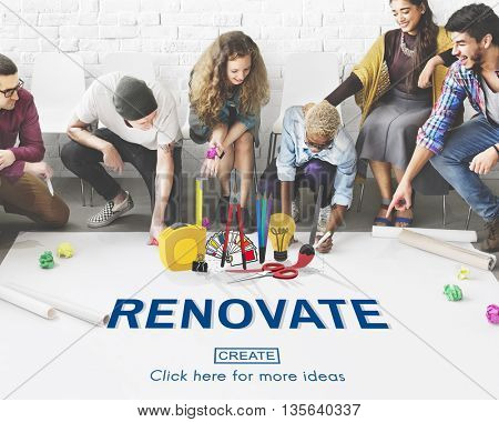 Renovate Decor Design Home House Improvement Concept