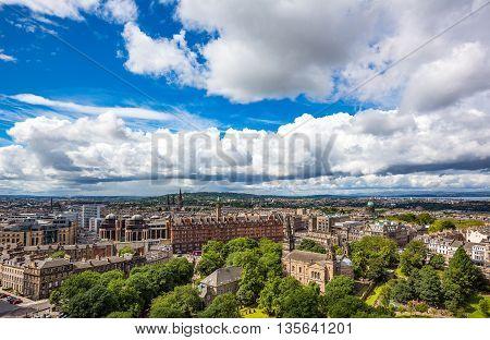 Great Britain Scotland Edinburgh the new town seen from the Edinburgh castle