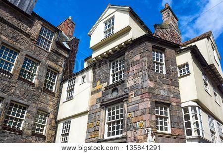 Great Britain Scotland Edinburgh Royal Mile Canongate the John Knox house.