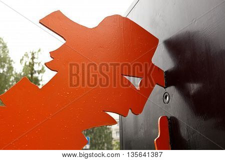 EKATERINBURG, RUSSIA - JUNE 6, 2016: Photo of Curiosity. Monument. Fragment.