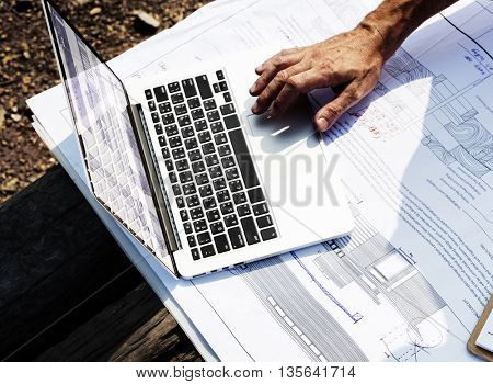 Top View Floor Plan Construction Concept