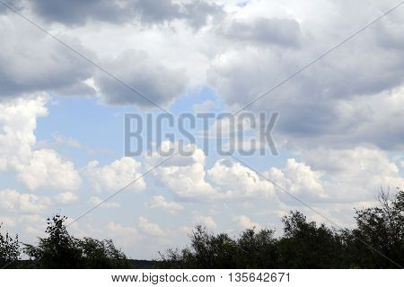 The Sky And Clouds On The Sky