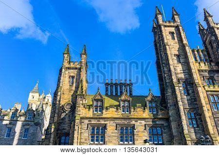 Great Britain Scotland Edinburgh upward view of the Mount palace