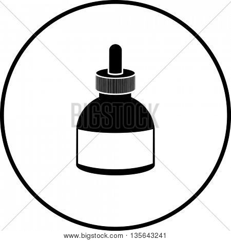 ink bottle with dropper cap symbol