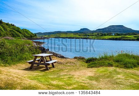 Great Britain Scotland Highlands landscapes in the Lochash area near the Eilean Castle