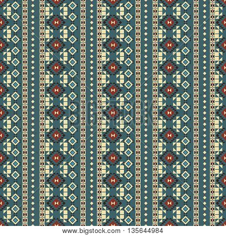 Geometric ethnic seamless pattern. Aztec background made of abstract geometric elements