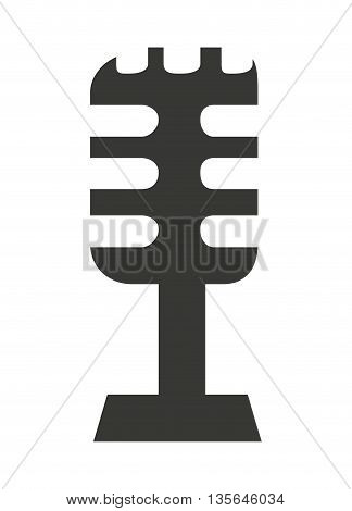 retro microphone isolated icon design, vector illustration  graphic