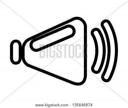 speaker symbol isolated icon design, vector illustration  graphic